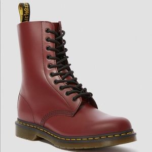 Dr. Martens Shoes - NWT Dr. Martens 1460 airwear red leather boots